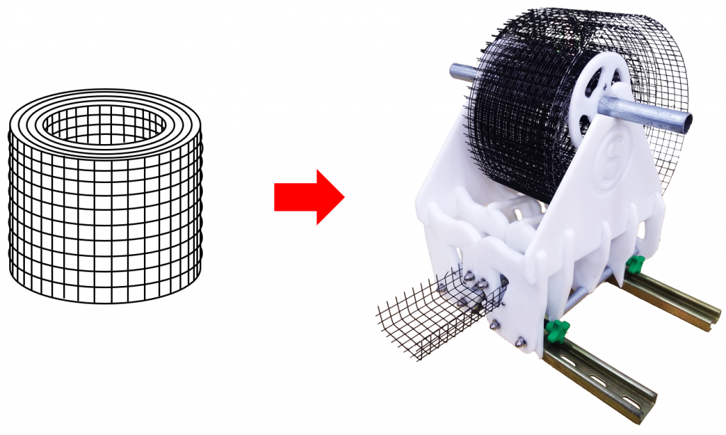 wire mesh loading into AG bender