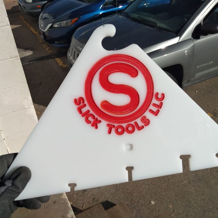slick tools logo machined and painted